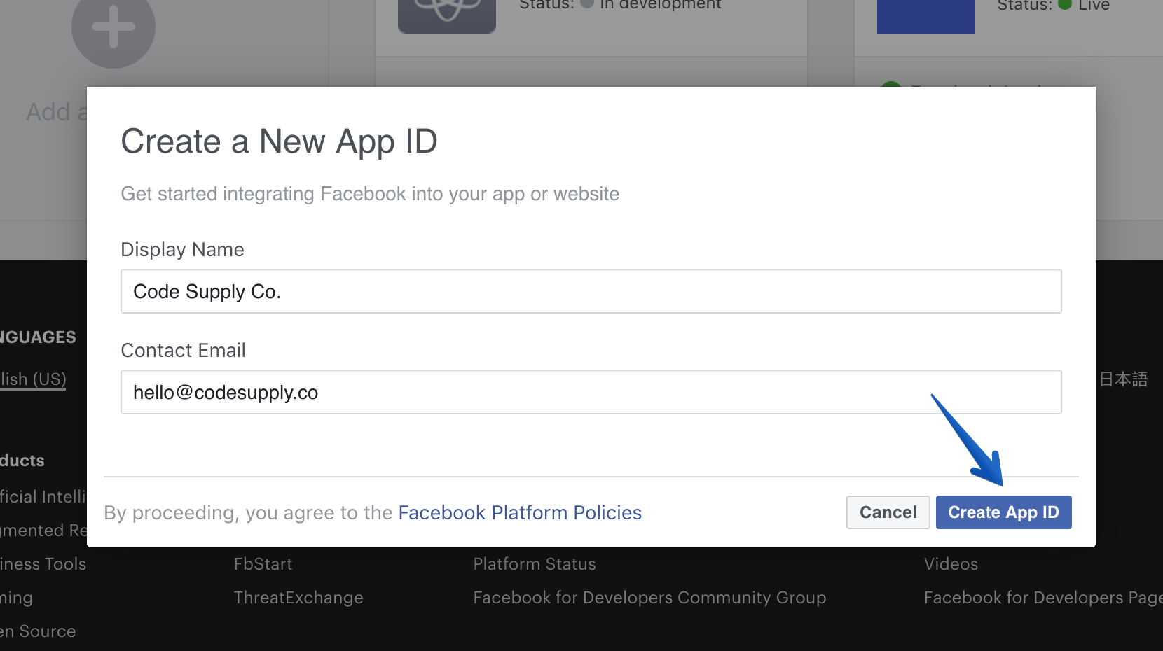 Facebook Integration - Authentic Documentation - Code Supply Co